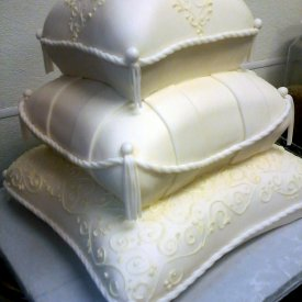 Pillows Wedding Cake